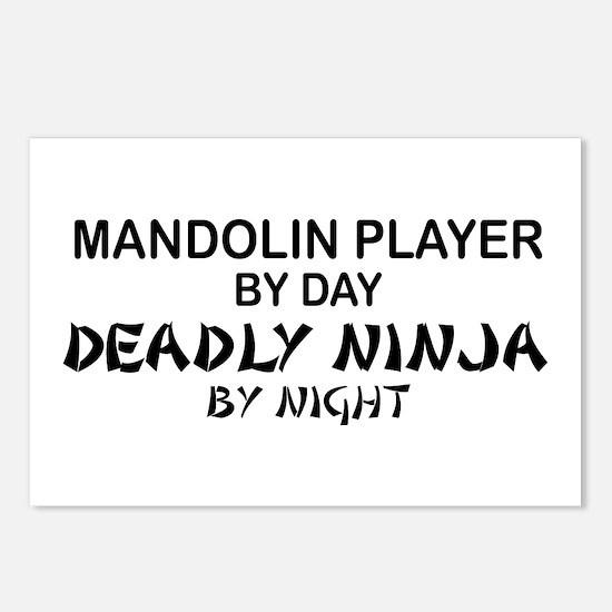 Mandolin Player Deadly Ninja Postcards (Package of