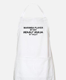 Marimba Player Deadly Ninja BBQ Apron