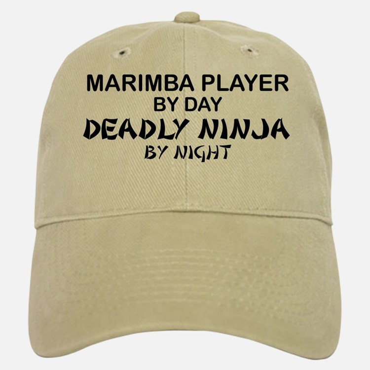 Marimba Player Deadly Ninja Baseball Baseball Cap