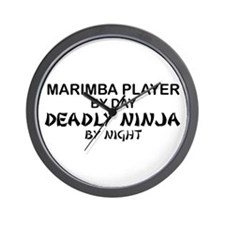 Marimba Player Deadly Ninja Wall Clock