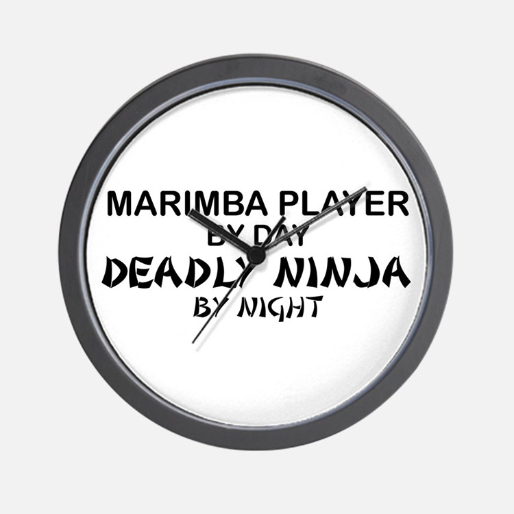 Marimba Player Deadly Ninja Wall Clock