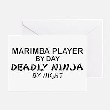 Marimba Player Deadly Ninja Greeting Cards (Pk of
