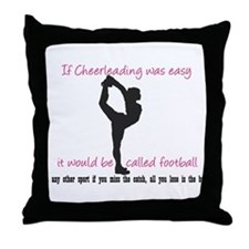 If Cheerleading Was Easy... Throw Pillow