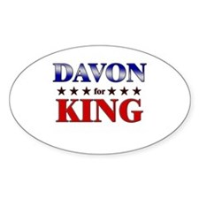 DAVON for king Oval Decal