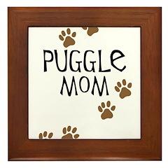 Puggle Mom Framed Tile