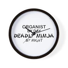 Organist Deadly Ninja Wall Clock