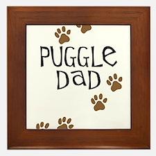 Puggle Dad Framed Tile
