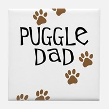 Puggle Dad Tile Coaster
