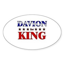DAVION for king Oval Decal