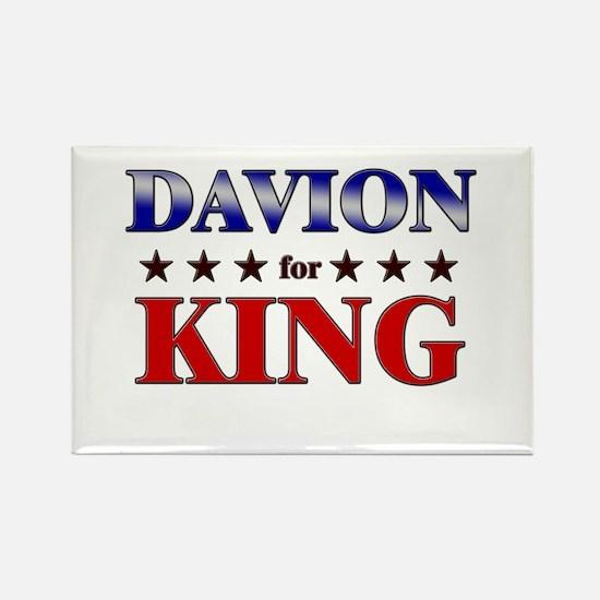 DAVION for king Rectangle Magnet
