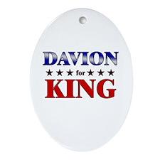 DAVION for king Oval Ornament