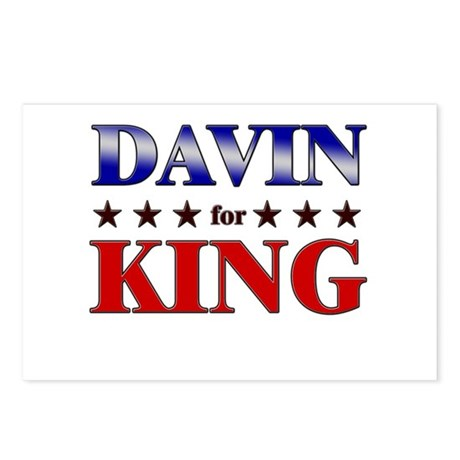 DAVIN for king Postcards (Package of 8)