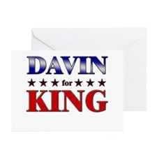 DAVIN for king Greeting Cards (Pk of 20)