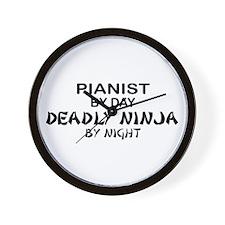 Pianist Deadly Ninja Wall Clock