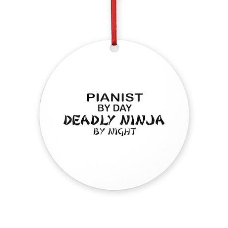 Pianist Deadly Ninja Ornament (Round)