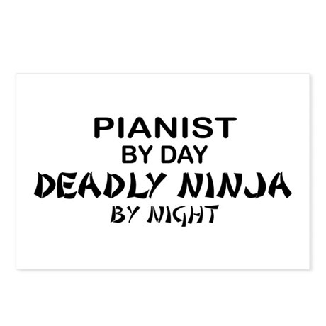 Pianist Deadly Ninja Postcards (Package of 8)