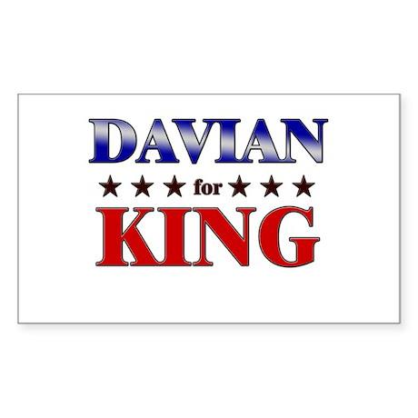 DAVIAN for king Rectangle Sticker