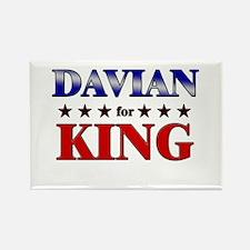 DAVIAN for king Rectangle Magnet