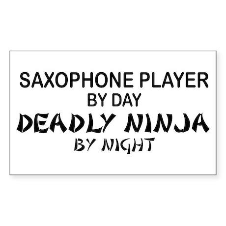 Saxophone Plyr Deadly Ninja Rectangle Sticker