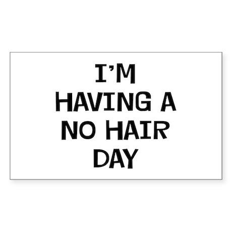 I'm No Hair Sticker (Rectangle)