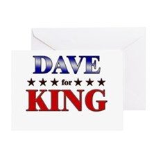 DAVE for king Greeting Card