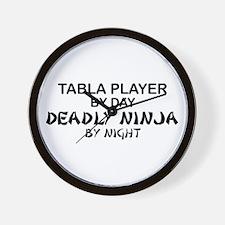Tabla Player Deadly Ninja Wall Clock