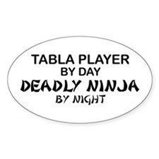 Tabla Player Deadly Ninja Oval Stickers