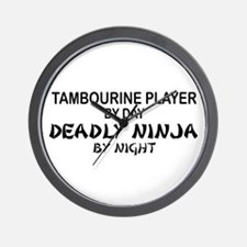 Tambourine Plyr Deadly Ninja Wall Clock