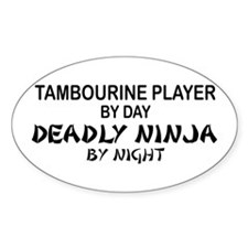 Tambourine Plyr Deadly Ninja Oval Stickers