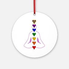 Chakras - Hearts Ornament (Round)