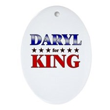 DARYL for king Oval Ornament