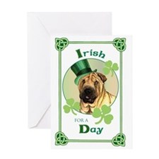 St. Patrick Shar-Pei Greeting Card