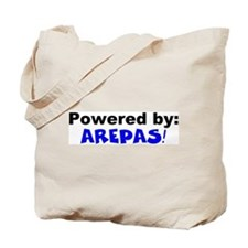 Powered by Arepas Tote Bag