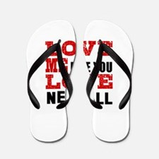 Love Me Like You Love Netball Flip Flops