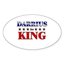 DARRIUS for king Oval Decal
