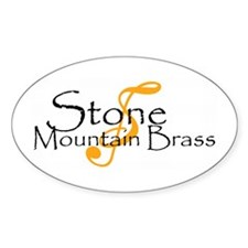 Stone Mountain Brass Oval Decal