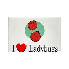 I Love Ladybugs Rectangle Magnet (10 pack)