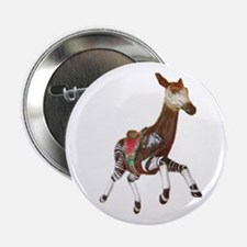 "okapi carousel animal 2.25"" Button"