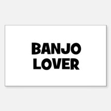 Banjo lover Rectangle Decal