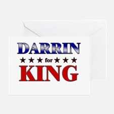DARRIN for king Greeting Card
