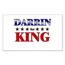 DARRIN for king Rectangle Decal