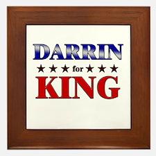 DARRIN for king Framed Tile