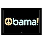 Obama for Peace Large Black Poster