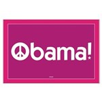 Obama for Peace Large Pink Poster