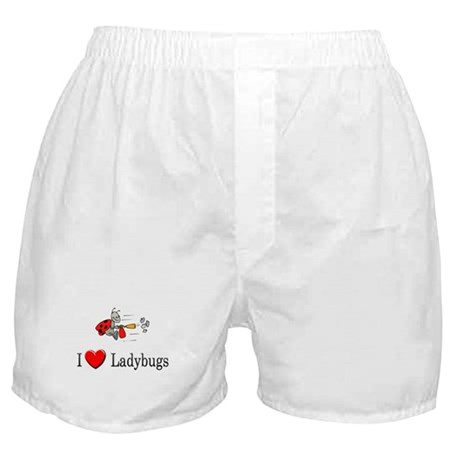 I Love Ladybugs Boxer Shorts