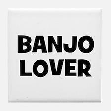 Banjo lover Tile Coaster