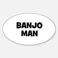 Banjo man Oval Decal