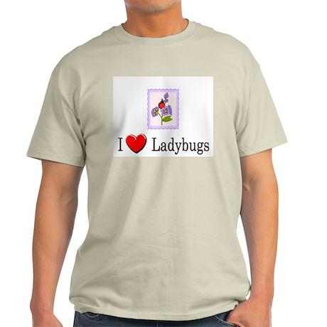 I Love Ladybugs Light T-Shirt