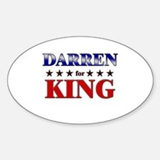 DARREN for king Oval Decal