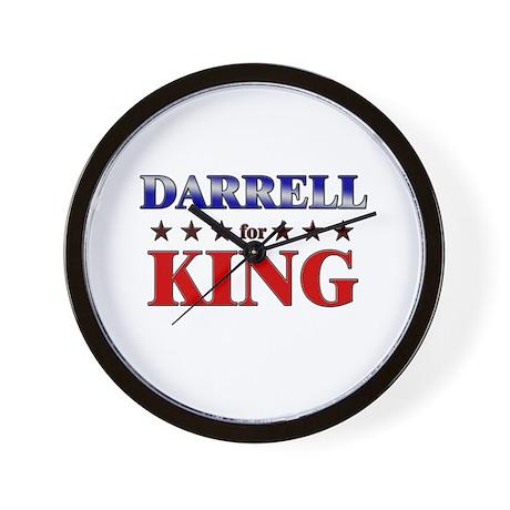 DARRELL for king Wall Clock